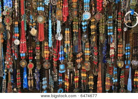 Vibrant Ethnic Necklaces From The Village Market, Morocco