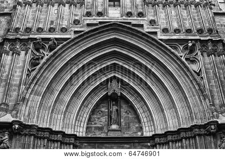 Monochromatic View Of Medieval Cathedral