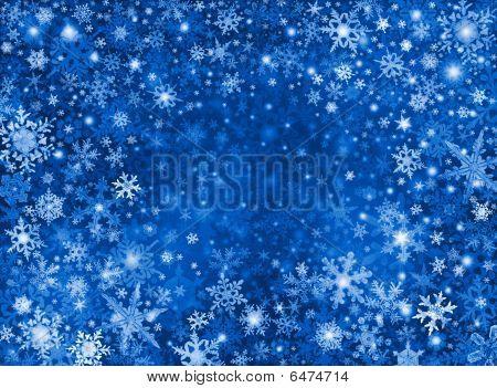 Blauwe Snow Storm achtergrond