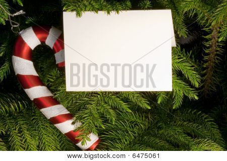 Candy Cane And Card Copy