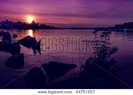 Summer Sunset over Muskoka Bay - Horizontal