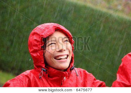 Mulher de chuva