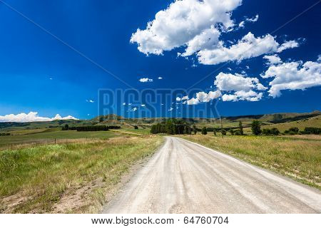 Road Countryside Blue