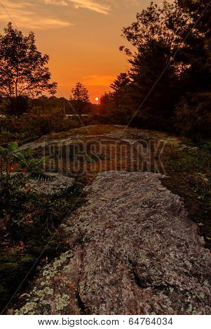 Sunset Along The Canadian Shield