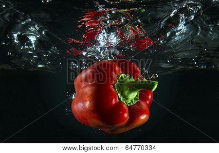 red pepper underwater