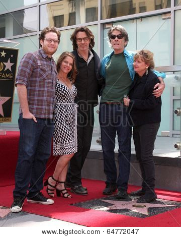 LOS ANGELES - MAY 9:  Joshua Springfield, Barbara Springfield, Rick Springfield, Michael Springthorpe at the Rick Springfield WOF Ceremony at Hollywood Blvd on May 9, 2014 in Los Angeles, CA