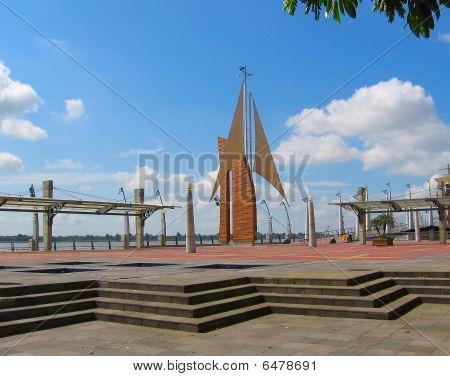 Malecon 2000, Guayaquil, Equador.