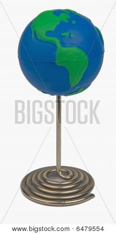 Globe On Pin Whiteback