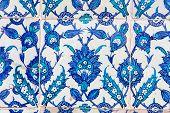 Turkish Blue Tile in Rustem Pasha Mosque poster