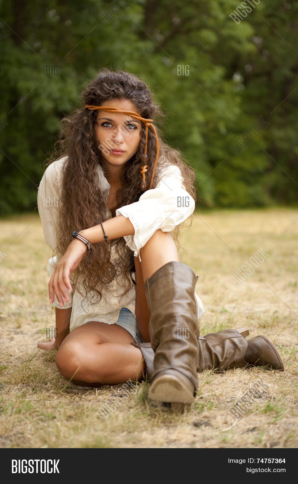 multiple colors great prices new products Beautiful Hippie Girl Image & Photo (Free Trial)   Bigstock