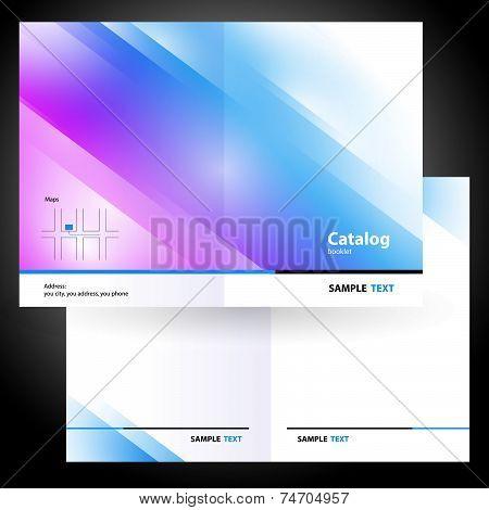 poster of catalog booklet folder brochure colorful design vector gradient blue