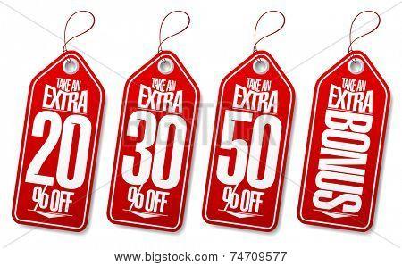 Take an extra bonus coupons tags.