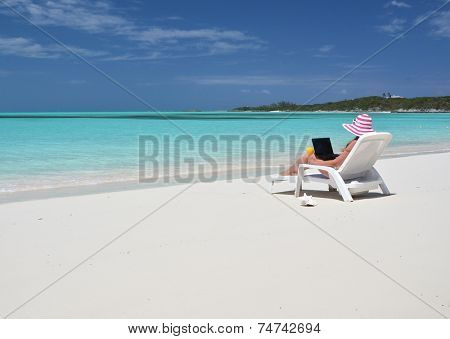 Beach scene, Exuma, Bahamas