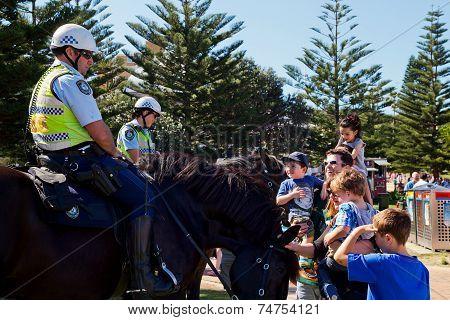 Police horses meet the public