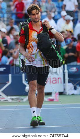 Professional tennis player David Ferrer after US Open 2014 match