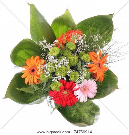 Bright bouquet. Gerbera flowers