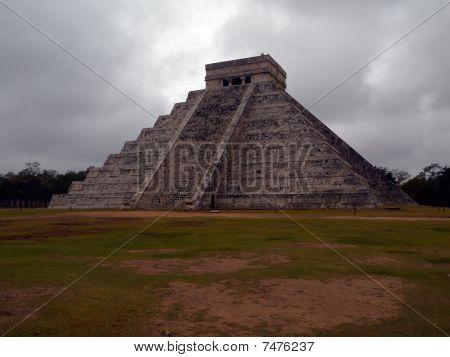 Pyramid Kukulkan A Rainy Day