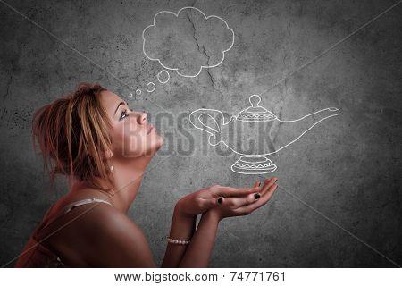 Girl Expressing Desire