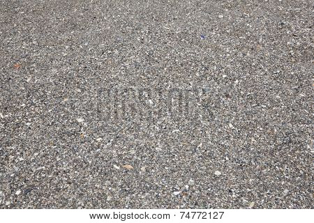 Pebbles on the beach as a background horizontal poster