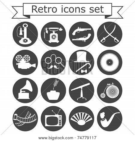 Retro Icons Set