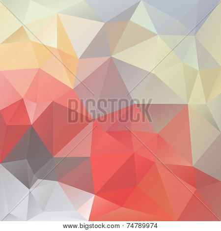 Pastel Love Triangular Background