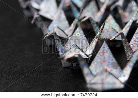 Silver Paper Birds