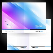 catalog booklet folder brochure colorful design vector gradient blue poster