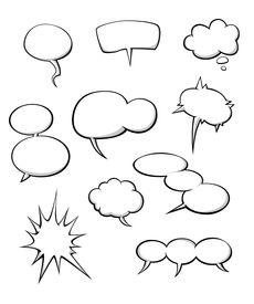 Cartoon dialog clouds