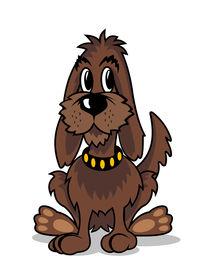 Cartoon brown dog