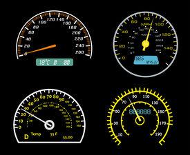 Speedometers dials set