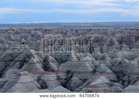 Landscape View Of The Badlands National Park