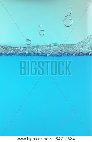 Blue foam bubbles background