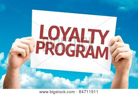 Loyalty Program card with sky background