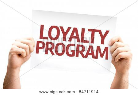 Loyalty Program card isolated on white background