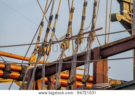 Rigging of an old 1400's era Sailing Ship