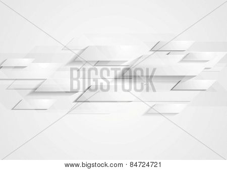 Abstract grey hi-tech background. Vector design