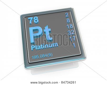 Platinum. Chemical element. 3d