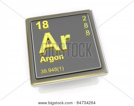 Argon. Chemical element. 3d