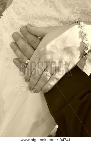 Sepia Closeup Of Hands