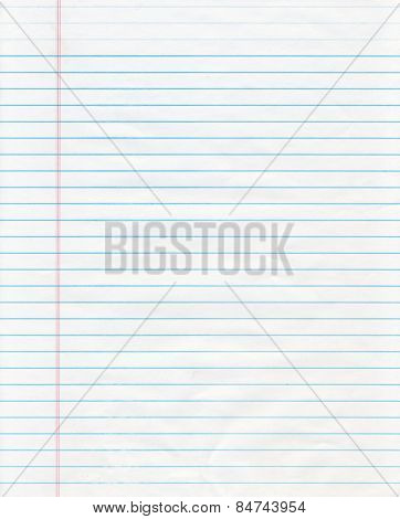 Blue Lined Notebook Paper