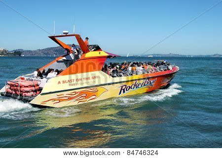 Speed Boat In San Francisco Bay