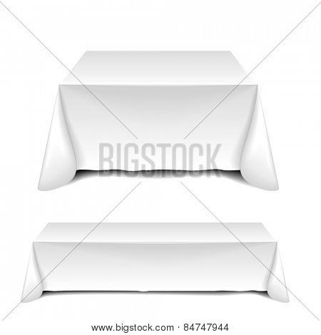 detailed illustration of blank white tables, eps10 vector