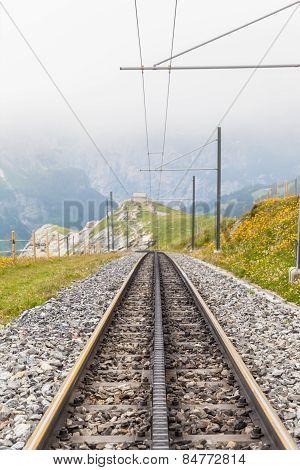 Tracks Of Swiss Cogwheel Train