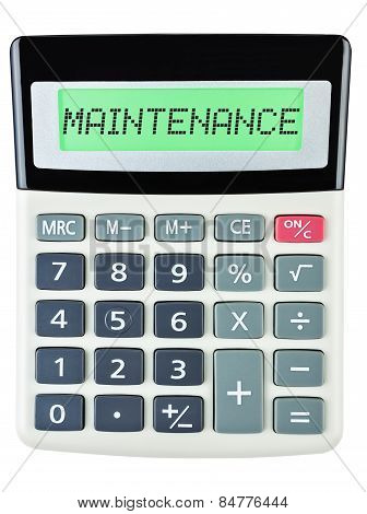 Calculator With Maintenance