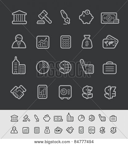 Business & Finance Icons // Black Line Series -- EPS 10+ Contain Transparencies