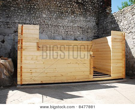Wooden Cabin Construction