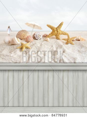 Summer wall background/backdrop