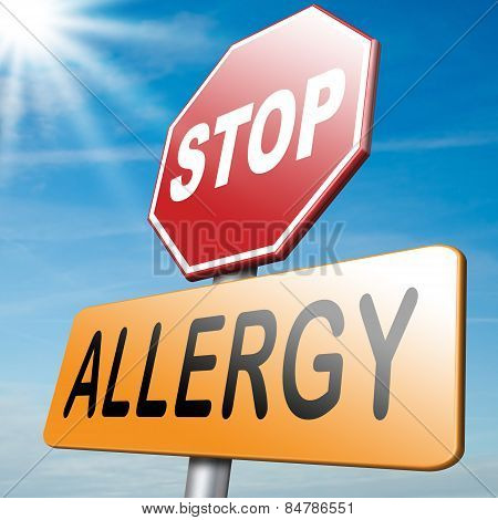 Allergy and allergic reactions hypersensitivity disorder of the immune system asthma attack caused by food or pollen or hay fever poster