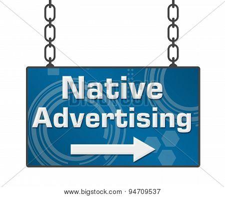 Native Advertising Signboard