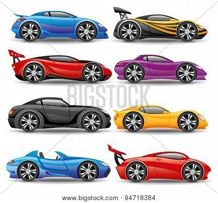 Car icons.